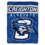 Creighton Bluejays Basic Plush Raschel Blanket