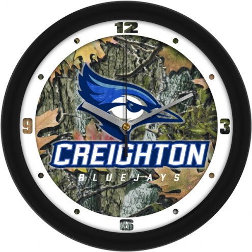 Creighton Bluejays Camo Wall Clock