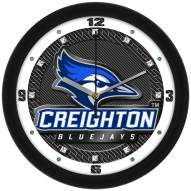 Creighton Bluejays Carbon Fiber Wall Clock