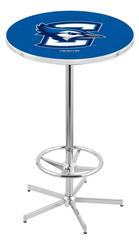 Creighton Bluejays Chrome Bar Table with Foot Ring