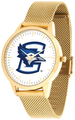 Creighton Bluejays Gold Mesh Statement Watch