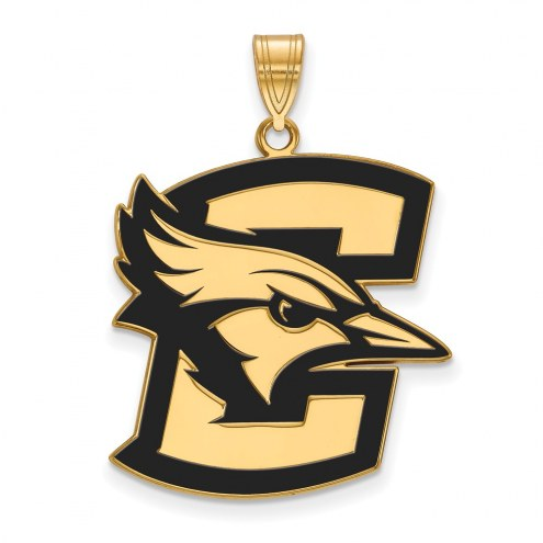 Creighton Bluejays Sterling Silver Gold Plated Extra Large Enameled Pendant