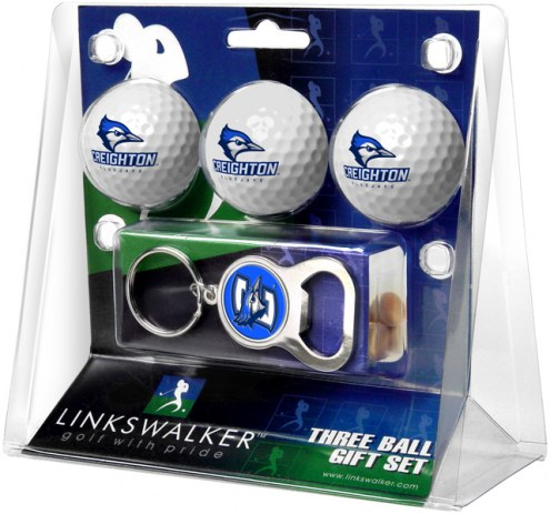 Creighton Bluejays Golf Ball Gift Pack with Key Chain