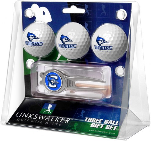 Creighton Bluejays Golf Ball Gift Pack with Kool Tool