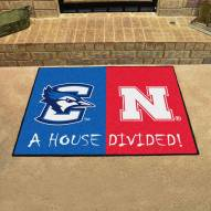Creighton Bluejays/Nebraska House Divided Mat
