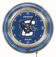 Creighton Bluejays Neon Clock