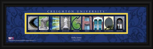 Creighton Bluejays Personalized Campus Letter Art