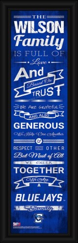 Creighton Bluejays Personalized Family Cheer Framed Art