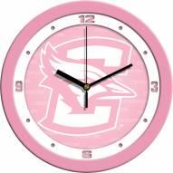 Creighton Bluejays Pink Wall Clock