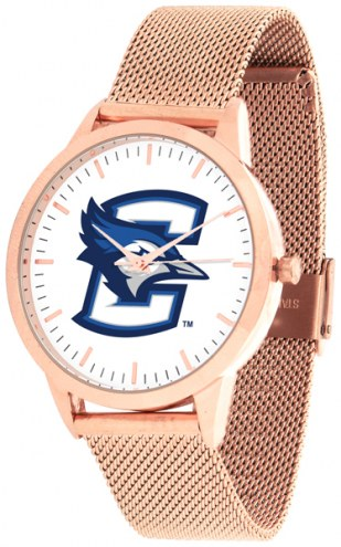 Creighton Bluejays Rose Mesh Statement Watch