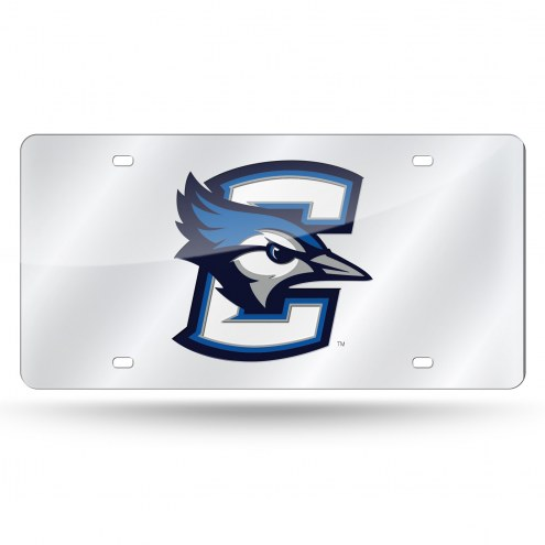Creighton Bluejays Silver Laser Cut License Plate