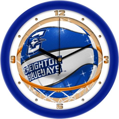 Creighton Bluejays Slam Dunk Wall Clock