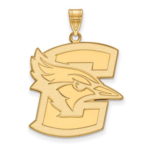 Creighton Bluejays Sterling Silver Gold Plated Extra Large Pendant