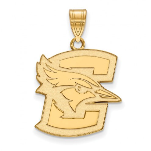 Creighton Bluejays Sterling Silver Gold Plated Large Pendant