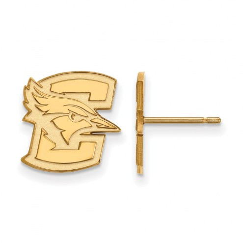 Creighton Bluejays Sterling Silver Gold Plated Small Post Earrings