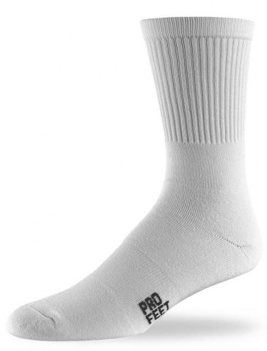 Pro Feet Men's White Cotton Crew Socks - 10 Pair Pack