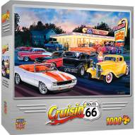 Cruisin' Route 66 Dogs & Burgers 1000 Piece Puzzle