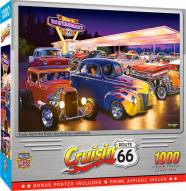 Cruisin' Route 66 Friday Night Hot Rod's 1000 Piece Puzzle
