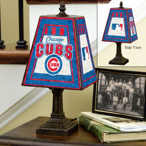 Chicago Cubs MLB Hand-Painted Art Glass Table Lamp