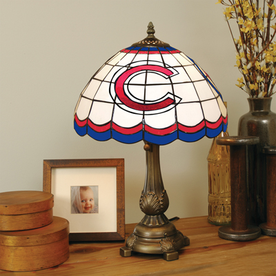 Chicago Cubs MLB Stained Glass Table Lamp
