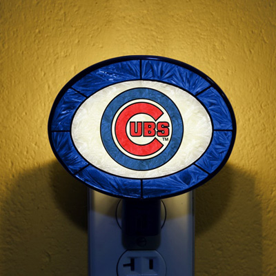 Chicago Cubs MLB Stained Glass Night Light