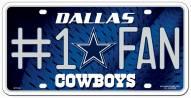 Dallas Cowboys #1 Fan License Plate