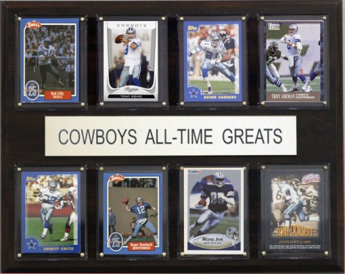 "Dallas Cowboys 12"" x 15"" All-Time Greats Plaque"