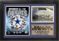 "Dallas Cowboys 12"" x 18"" Greats Photo Stat Frame"