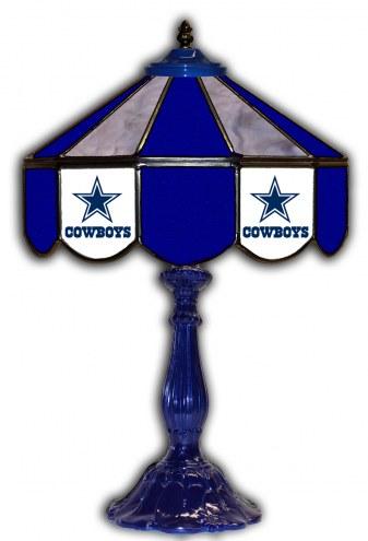 "Dallas Cowboys 21"" Glass Table Lamp"
