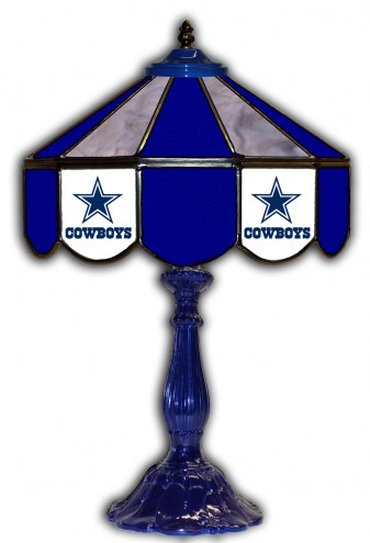 "Dallas Cowboys 21"" Glass Table Lamp"