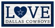 "Dallas Cowboys 6"" x 12"" Love Sign"
