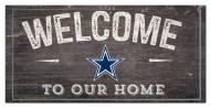 "Dallas Cowboys 6"" x 12"" Welcome Sign"