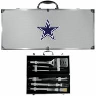 Dallas Cowboys 8 Piece Stainless Steel BBQ Set w/Metal Case