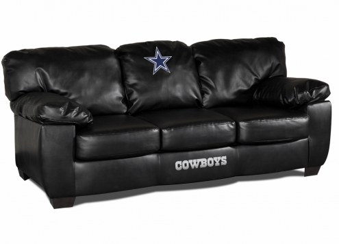 Dallas Cowboys Black Leather Classic Sofa