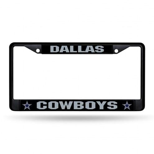 Dallas Cowboys Black Metal License Plate Frame