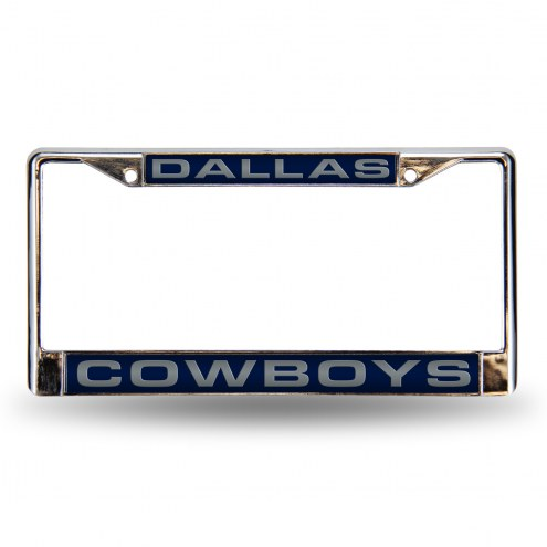 Dallas Cowboys Blue Laser Chrome License Plate Frame