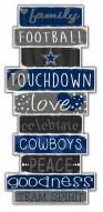 Dallas Cowboys Celebrations Stack Sign