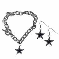 Dallas Cowboys Chain Bracelet & Dangle Earring Set