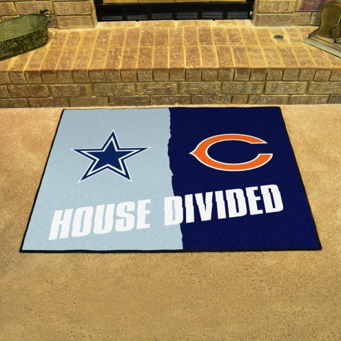 Dallas Cowboys/Chicago Bears House Divided Mat