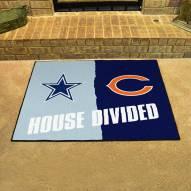 Dallas Cowboys/Chicago Bears House Divided Mat