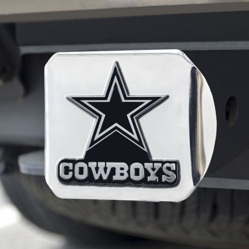 Dallas Cowboys Chrome Metal Hitch Cover