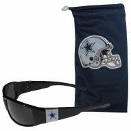 Dallas Cowboys Chrome Wrap Sunglasses & Bag