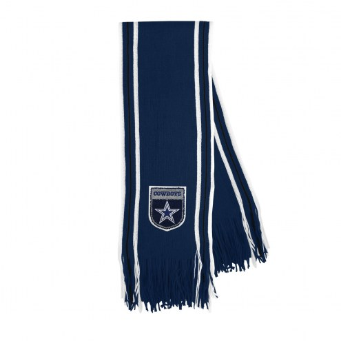 Dallas Cowboys Crest Stripe Fringe Scarf