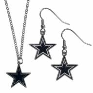 Dallas Cowboys Dangle Earrings & Chain Necklace Set