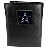 Dallas Cowboys Deluxe Leather Tri-fold Wallet in Gift Box