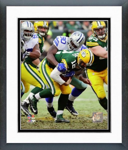 Dallas Cowboys Demarcus Lawrence Playoff Action Framed Photo
