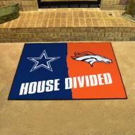 Dallas Cowboys/Denver Broncos House Divided Mat