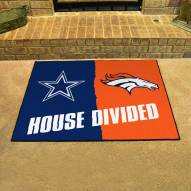Dallas Cowboys/Denver Broncos House Divided Mat