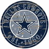 Dallas Cowboys Distressed Round Sign