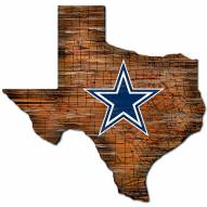 Dallas Cowboys Distressed State with Logo Sign